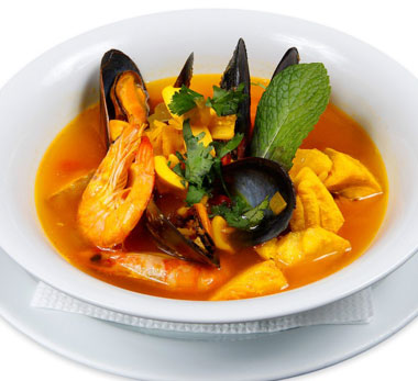 Soup of fish and seafood