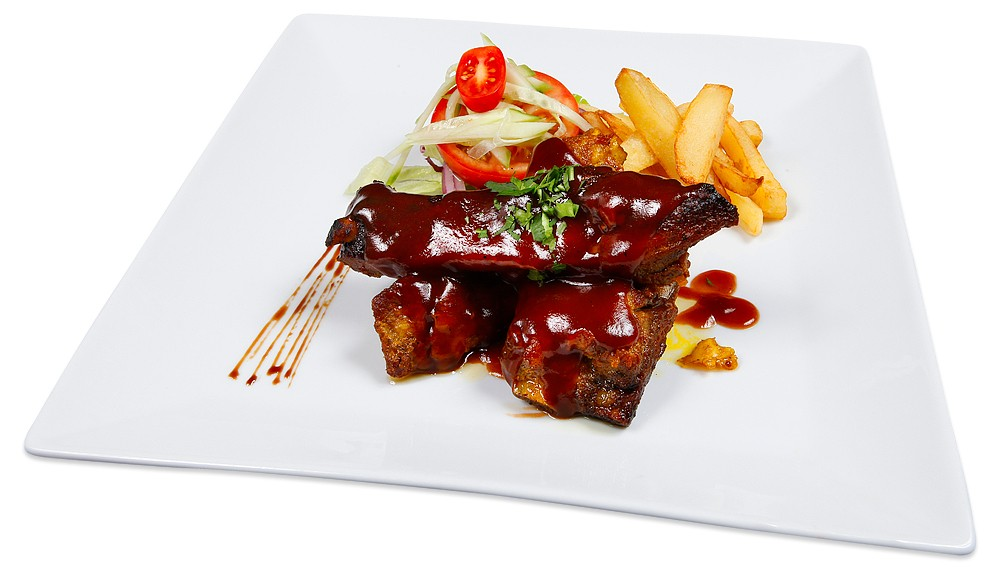 Spareribs med barbecue saus